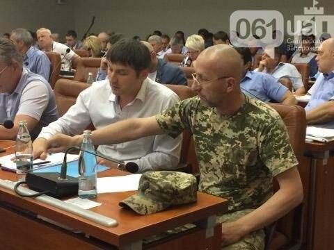 Во время сессии горсовета