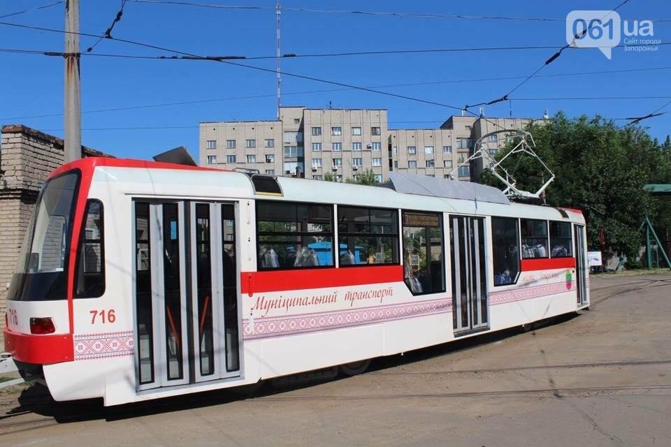 Первый собранный в Запорожье трамвай выехал на маршруты города на испытания, — ФОТО, фото-2