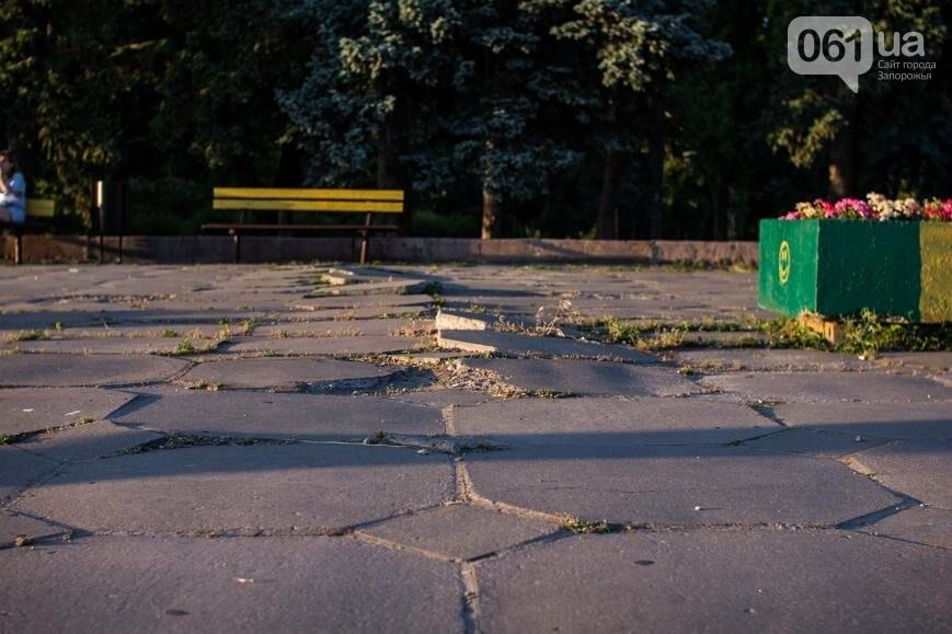 Ямы, разбитая плитка и переполненные урны: фотопрогулка возле речного порта и площади Запорожской, фото-8