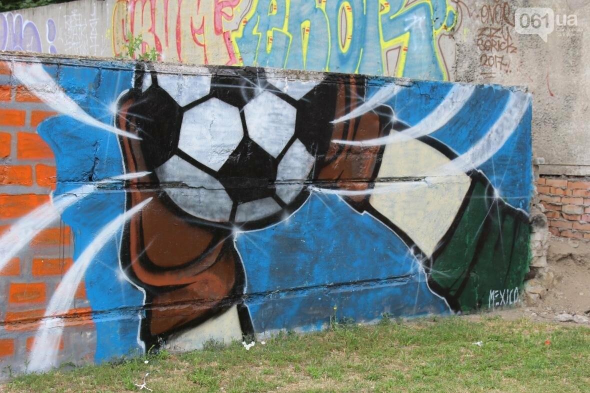 В Запорожье стадион «Локомотив» разрисовали граффити, — ФОТОРЕПОРТАЖ, фото-7