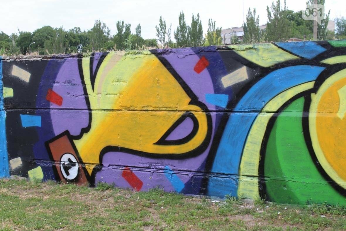 В Запорожье стадион «Локомотив» разрисовали граффити, — ФОТОРЕПОРТАЖ, фото-6