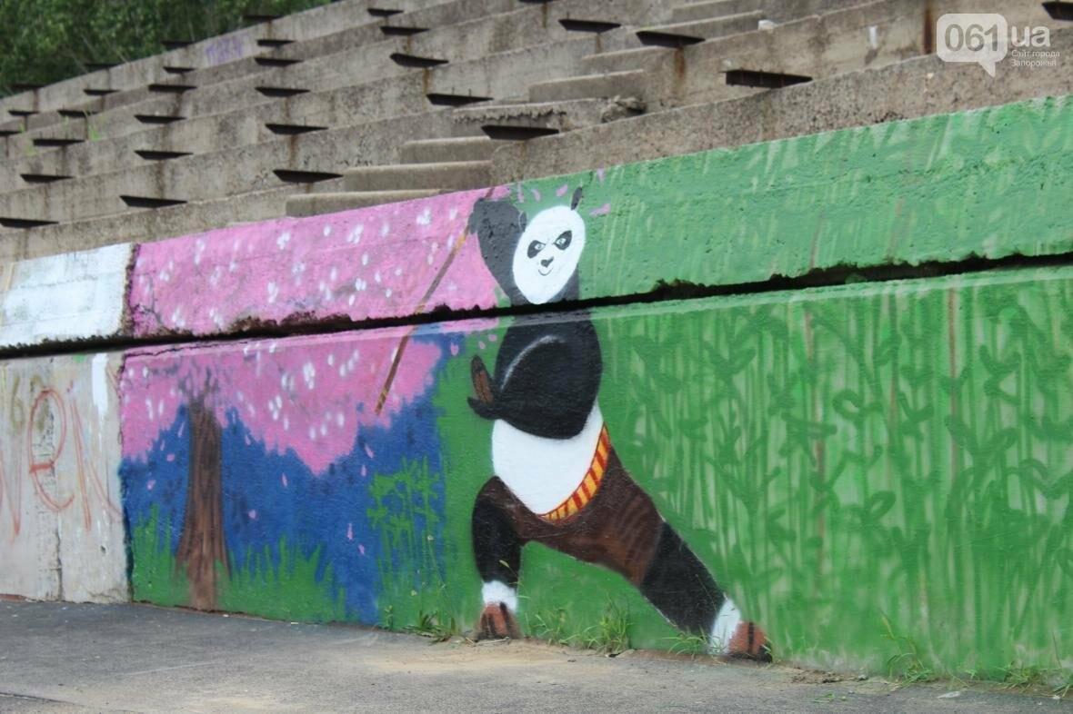 В Запорожье стадион «Локомотив» разрисовали граффити, — ФОТОРЕПОРТАЖ, фото-2