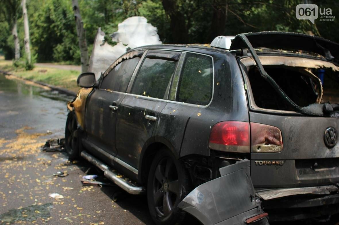 В центре Запорожья сгорели Volkswagen и Audi, - ФОТО, ВИДЕО, фото-4