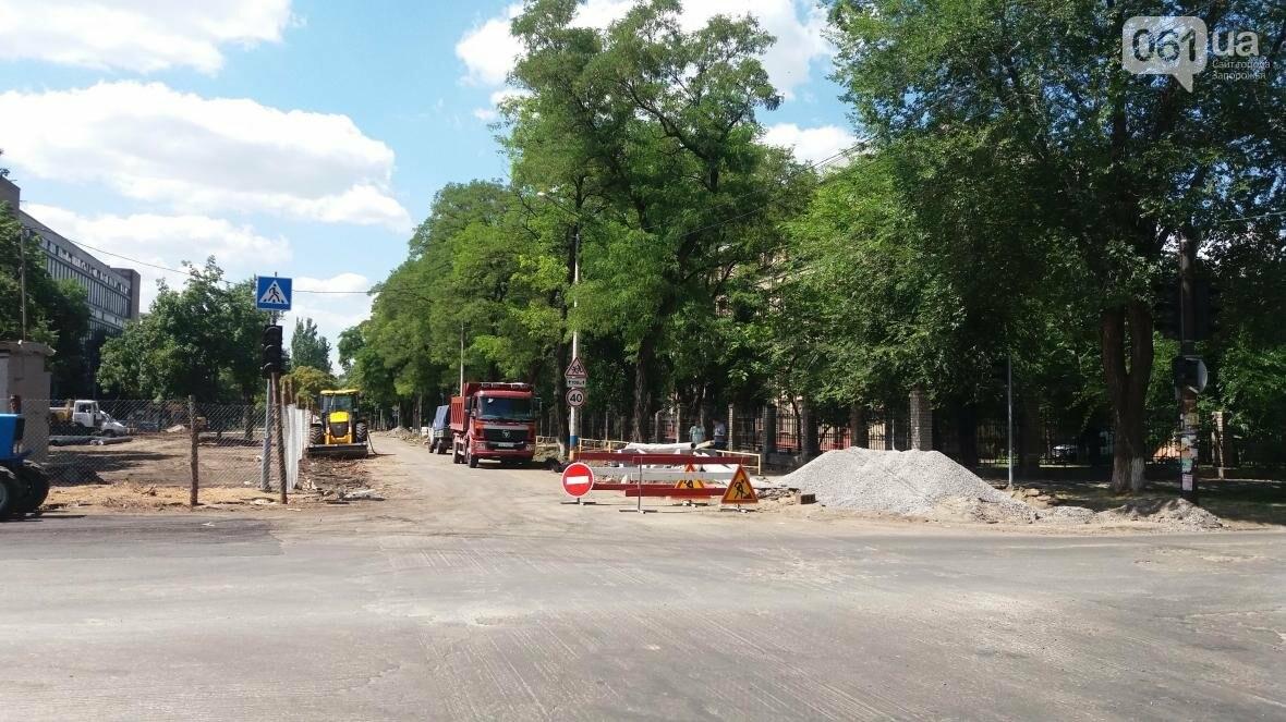 Спилили все деревья и сняли асфальт: как в Запорожье реконструируют проспект Маяковского, — ФОТОРЕПОРТАЖ, фото-2