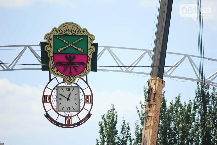 В Запорожье на площади Фестивальной начали монтировать вывеску за полмиллиона гривен, - ФОТОРЕПОРТАЖ, фото-1