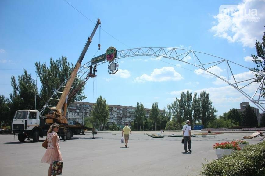 В Запорожье на площади Фестивальной начали монтировать вывеску за полмиллиона гривен, - ФОТОРЕПОРТАЖ, фото-12