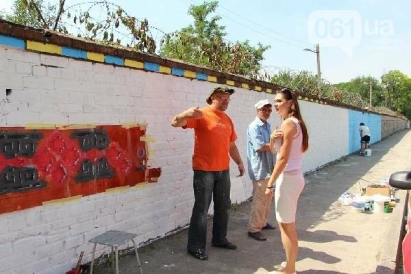 Стало известно, кто рисует вышиванку и козака на заборе в Заводском районе, - ФОТО , фото-2