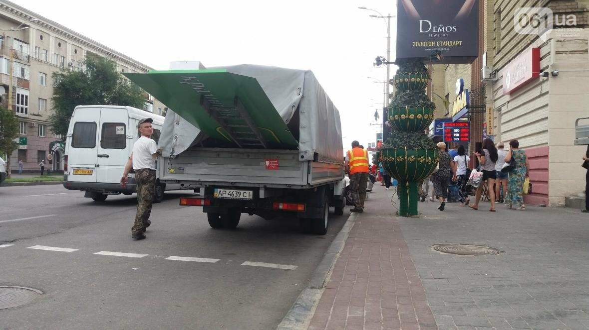 В Запорожье на Металлургов демонтировали еще одну незаконную вывеску, — ФОТО, фото-3