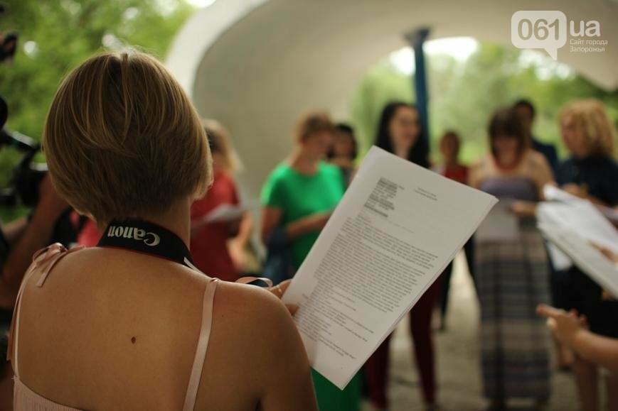 В Запорожье отметили день рождения Олега Сенцова чтением его пьесы, - ФОТО, ВИДЕО, фото-3