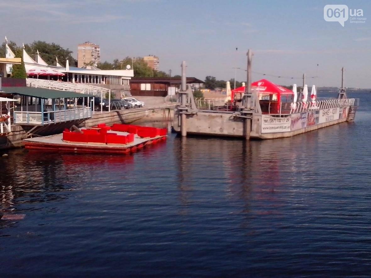Возле центрального пляжа в Запорожье незаконно «припарковали» кафе-понтон, — ФОТО, фото-3