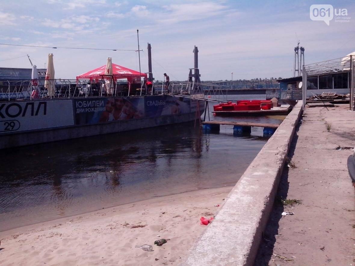 Возле центрального пляжа в Запорожье незаконно «припарковали» кафе-понтон, — ФОТО, фото-2