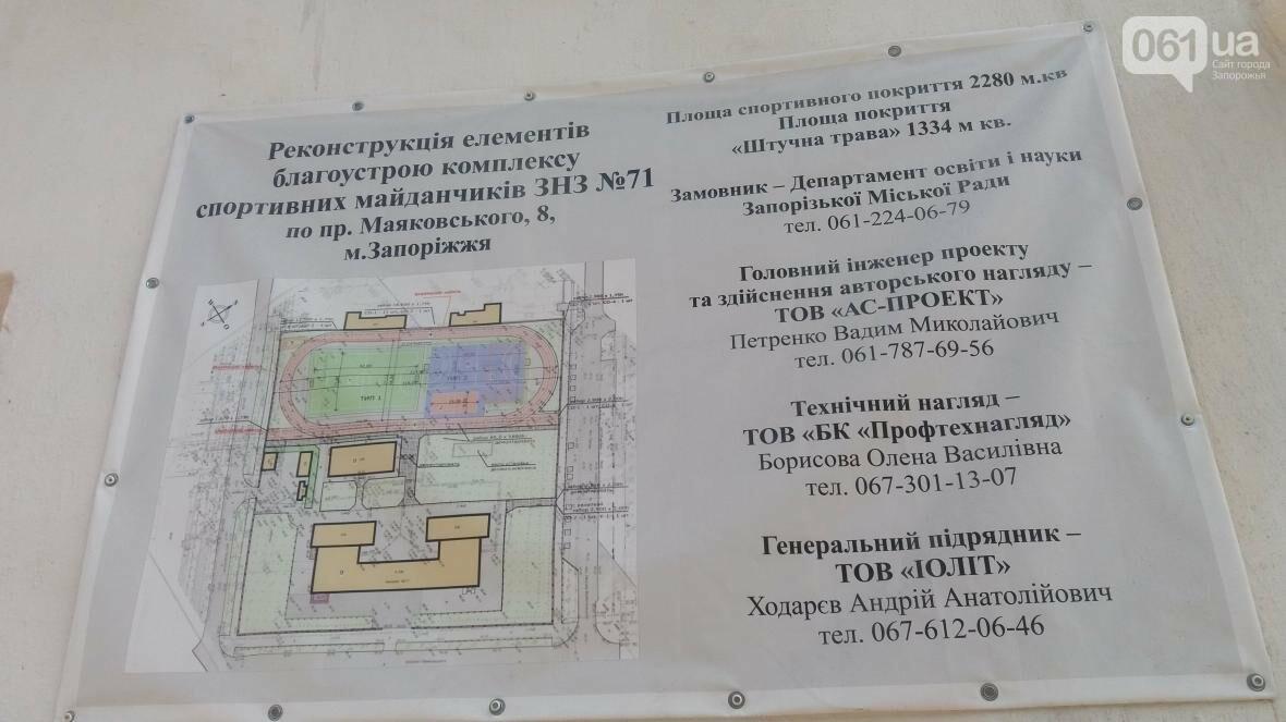 В Запорожье реконструируют школьные стадионы за 60 миллионов гривен, — ФОТОРЕПОРТАЖ, фото-8