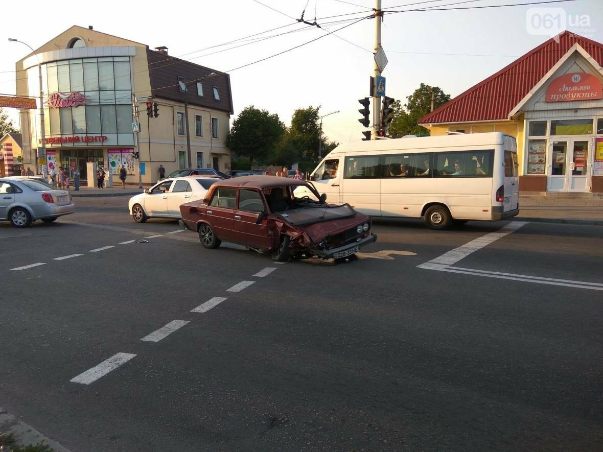 """В Запорожье """"ВАЗ"""" врезался в """"Honda Accord"""" напротив райотдела, - ФОТО, фото-1"""