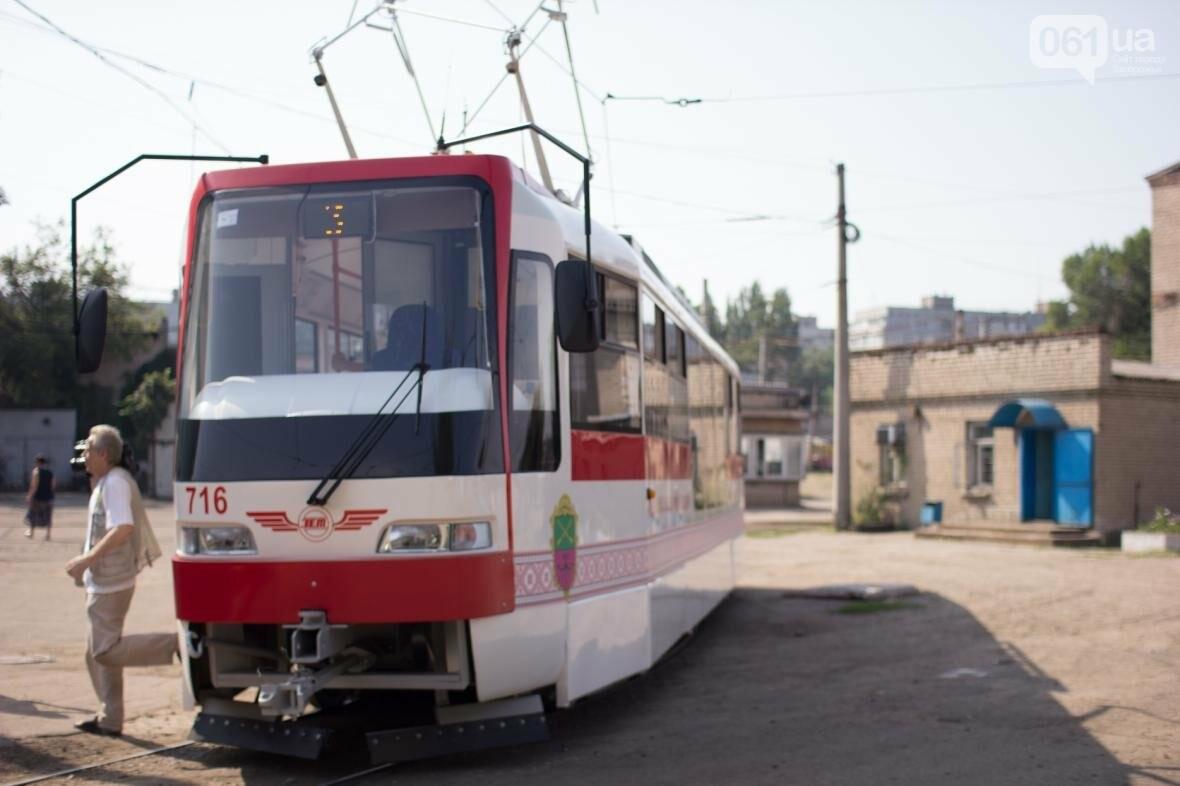 В Запорожье на рельсы вышел трамвай местной сборки, - ФОТО, ВИДЕО, фото-3