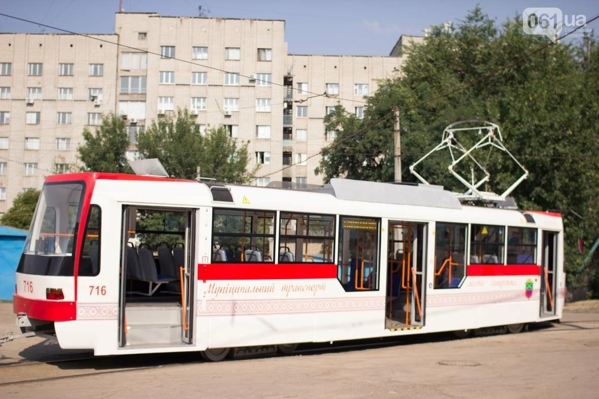 В Запорожье на рельсы вышел трамвай местной сборки, - ФОТО, ВИДЕО, фото-16
