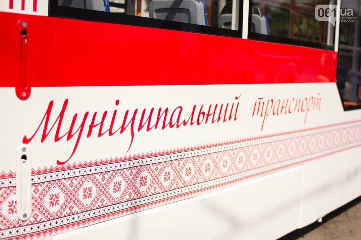 В Запорожье на рельсы вышел трамвай местной сборки, - ФОТО, ВИДЕО, фото-10
