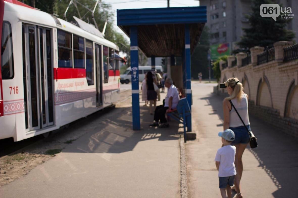 В Запорожье на рельсы вышел трамвай местной сборки, - ФОТО, ВИДЕО, фото-8