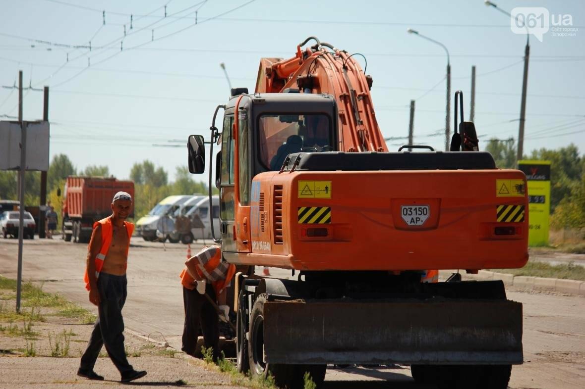В Южном микрорайоне Запорожья ремонтируют одну из главных дорог района, - ФОТОРЕПОРТАЖ, фото-6