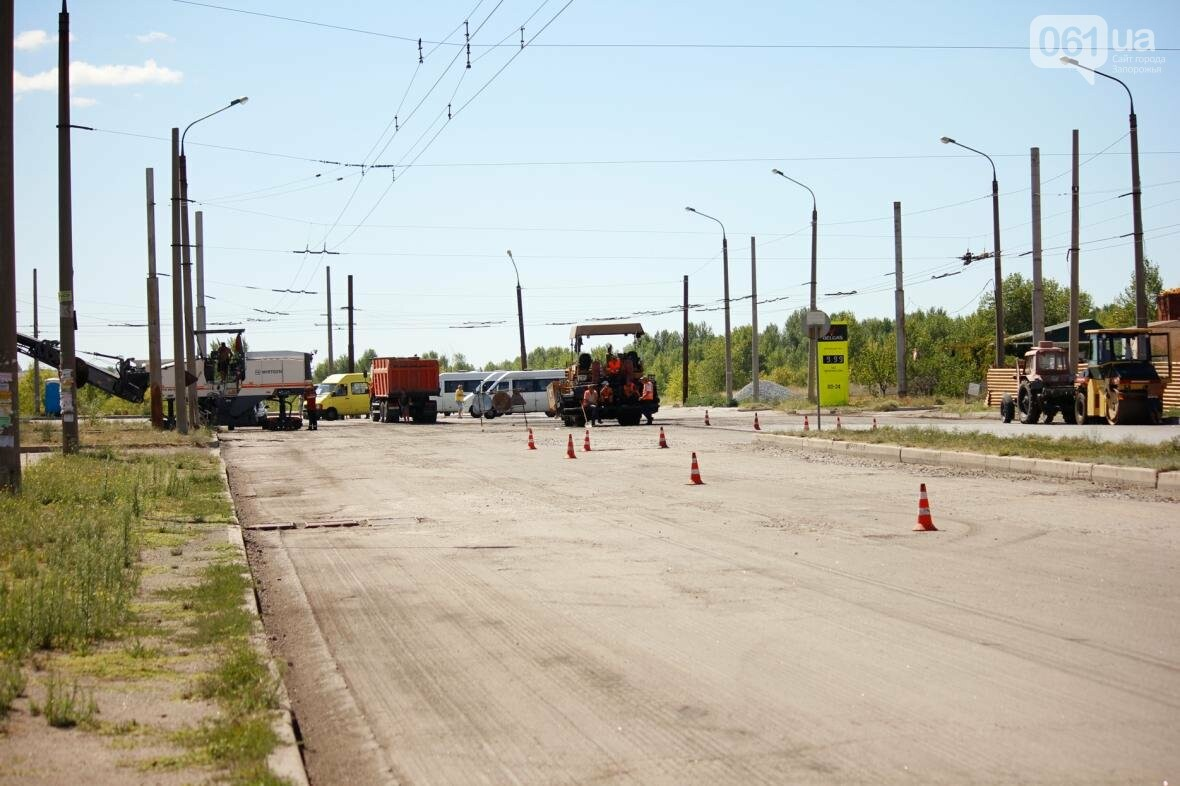 В Южном микрорайоне Запорожья ремонтируют одну из главных дорог района, - ФОТОРЕПОРТАЖ, фото-9