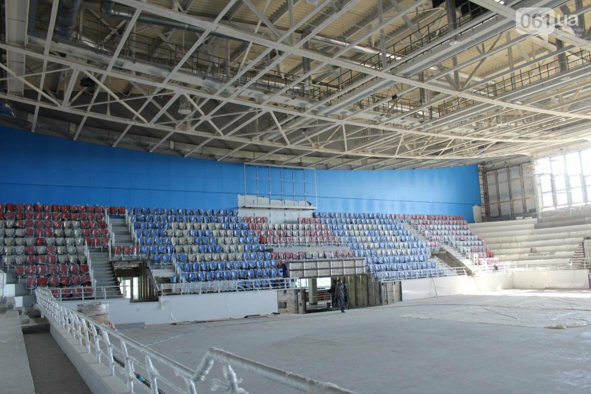 В Запорожье реконструируют дворец спорта «Юность: что уже сделано, — ФОТОРЕПОРТАЖ, фото-22