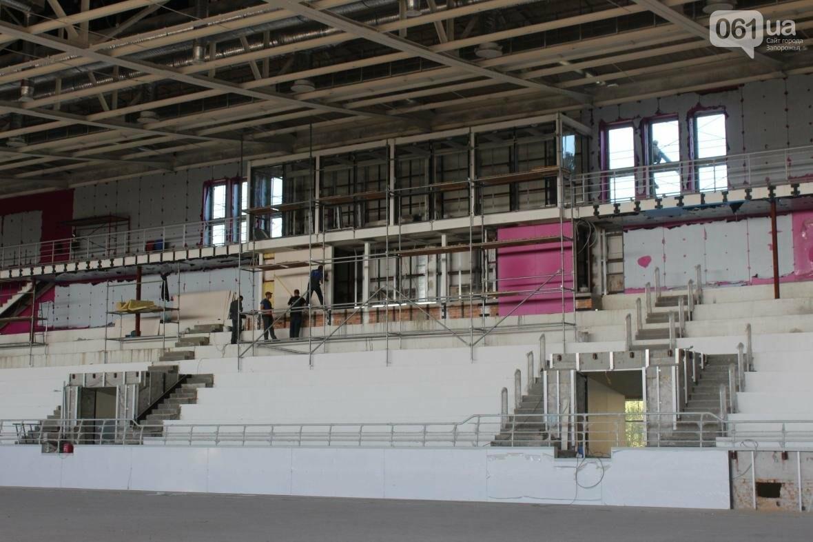 В Запорожье реконструируют дворец спорта «Юность: что уже сделано, — ФОТОРЕПОРТАЖ, фото-26