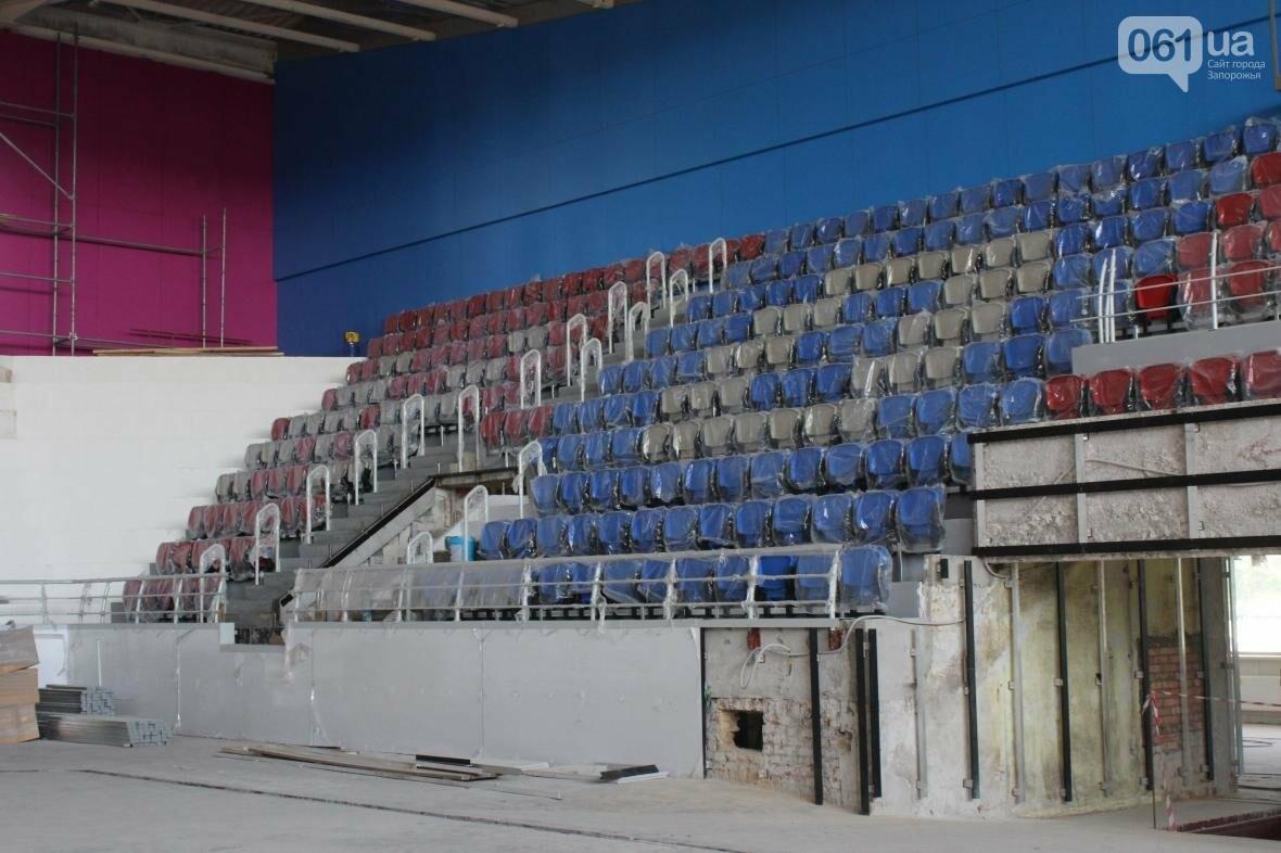 В Запорожье реконструируют дворец спорта «Юность: что уже сделано, — ФОТОРЕПОРТАЖ, фото-28