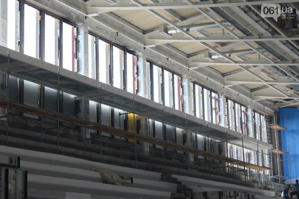 В Запорожье реконструируют дворец спорта «Юность: что уже сделано, — ФОТОРЕПОРТАЖ, фото-25
