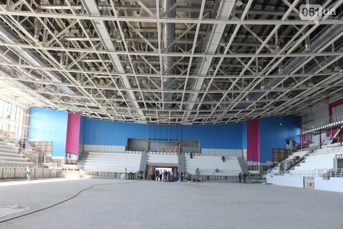 В Запорожье реконструируют дворец спорта «Юность: что уже сделано, — ФОТОРЕПОРТАЖ, фото-30