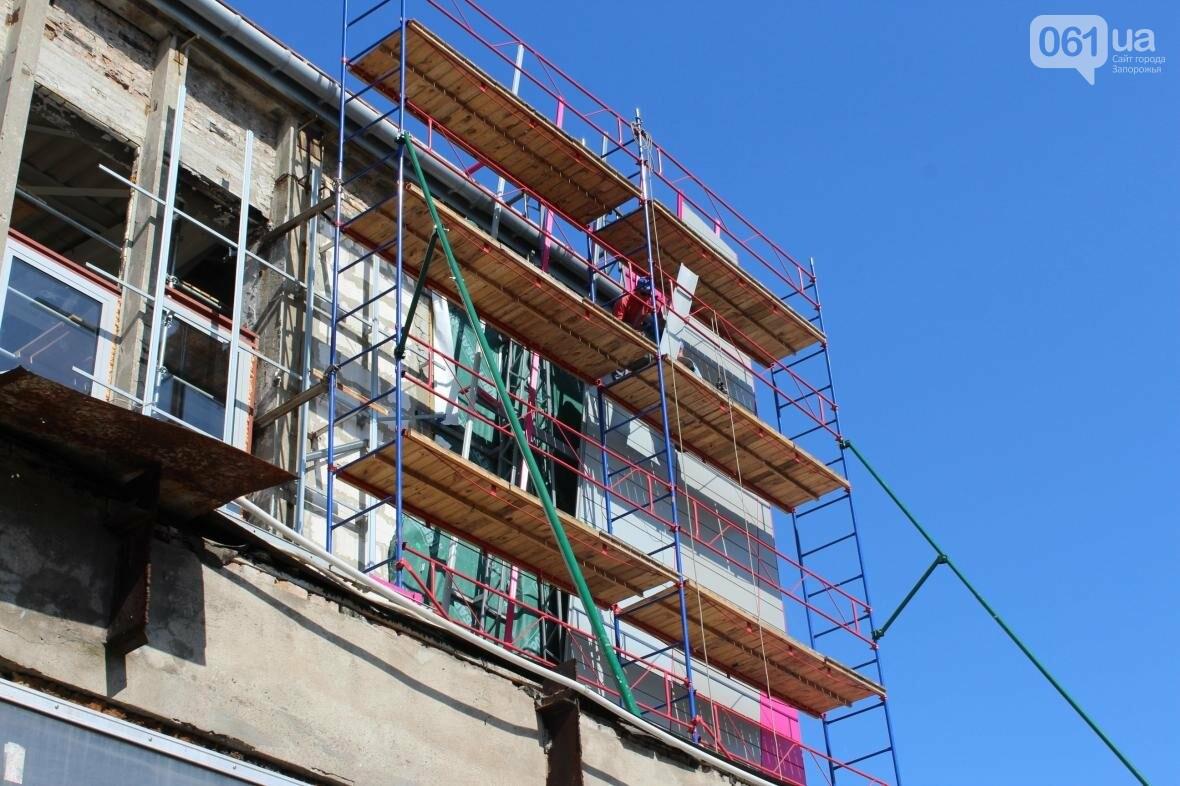 В Запорожье реконструируют дворец спорта «Юность: что уже сделано, — ФОТОРЕПОРТАЖ, фото-35