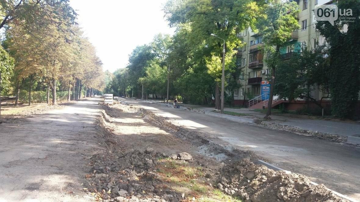 Новые парковки, бордюры, асфальт: в Запорожье реконструируют улицу Южноукраинскую, – ФОТОРЕПОРТАЖ, фото-19