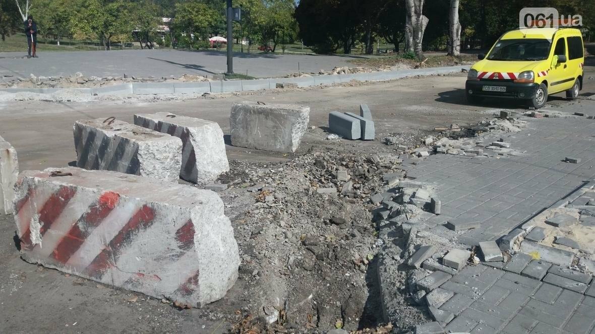 Новые парковки, бордюры, асфальт: в Запорожье реконструируют улицу Южноукраинскую, – ФОТОРЕПОРТАЖ, фото-15