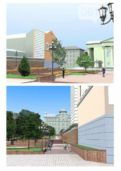 В Запорожье реконструируют парк напротив театра Магара: что сделают за 10 млн гривен, - ФОТО, фото-6