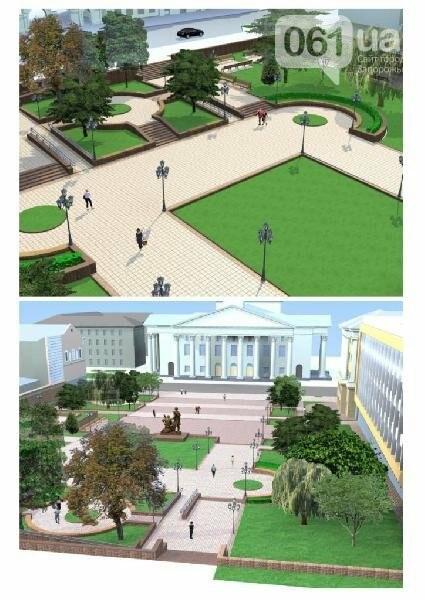 В Запорожье реконструируют парк напротив театра Магара: что сделают за 10 млн гривен, - ФОТО, фото-8
