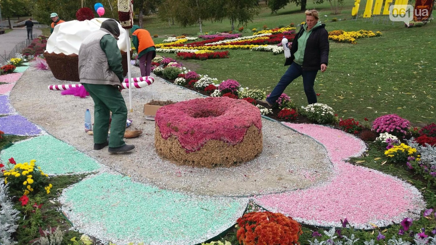 Покалеченный козак, сломанный конь и украденные цветы: запорожцы затоптали цветочные композиции ко Дню города, — ФОТОРЕПОРТАЖ, фото-16