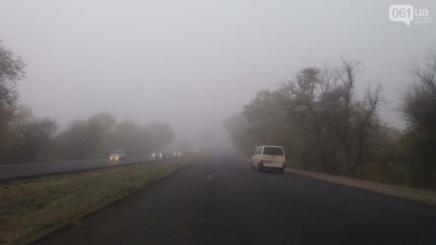 Из-за тумана на запорожских дорогах почти ничего не видно, - ФОТОФАКТ, фото-5