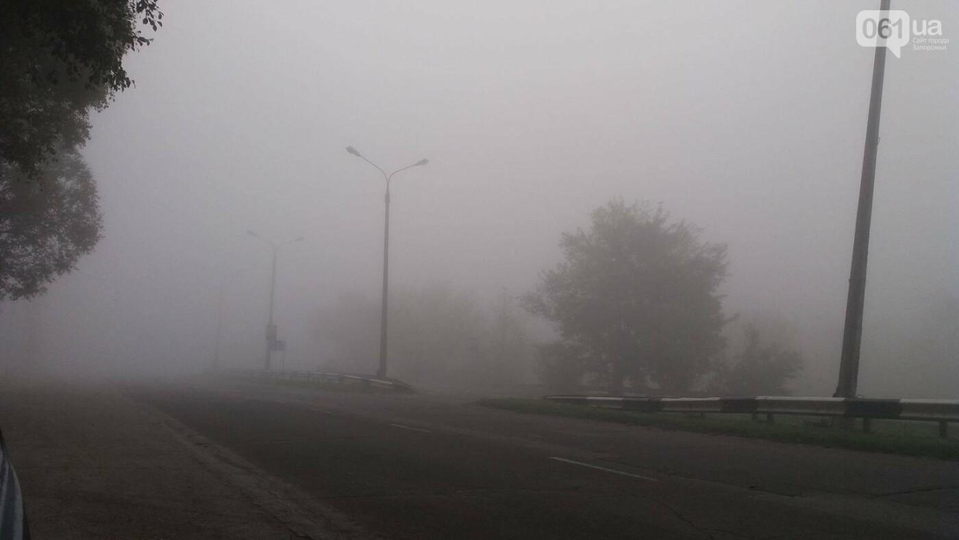 Из-за тумана на запорожских дорогах почти ничего не видно, - ФОТОФАКТ, фото-4