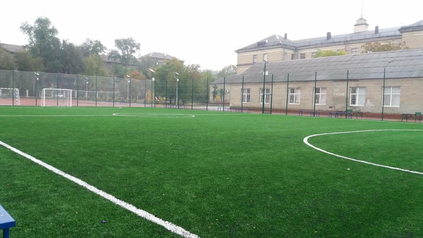 В Запорожье за 7 миллионов гривен отремонтировали школьную спортплощадку: что сделали подрядчики, – ФОТОРЕПОРТАЖ, фото-2