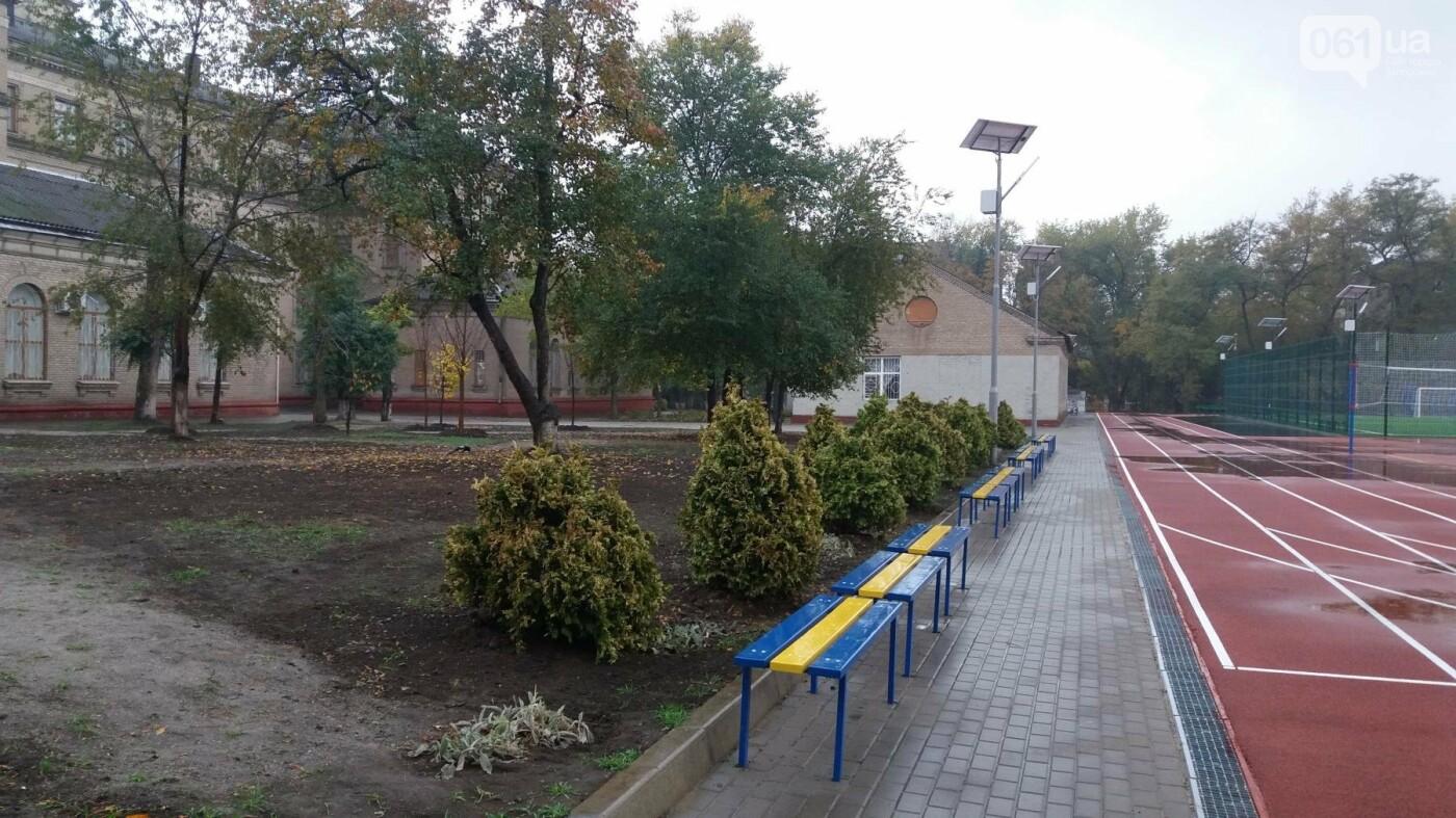 В Запорожье за 7 миллионов гривен отремонтировали школьную спортплощадку: что сделали подрядчики, – ФОТОРЕПОРТАЖ, фото-17