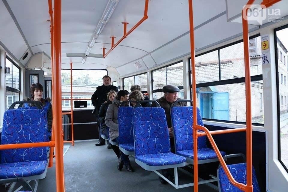 В Запорожье вышел на рельсы второй трамвай, собранный в Запорожье, - ФОТО, ВИДЕО, фото-16