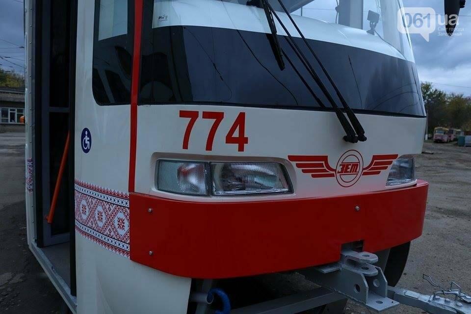 В Запорожье вышел на рельсы второй трамвай, собранный в Запорожье, - ФОТО, ВИДЕО, фото-1