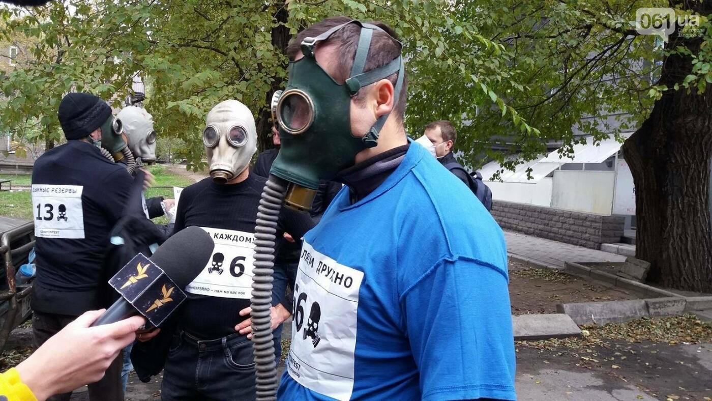 """""""Кашляем дружно"""": перед началом запорожсталевского марафона два десятка людей устроили забег в противогазах, - ФОТО, ВИДЕО, фото-6"""