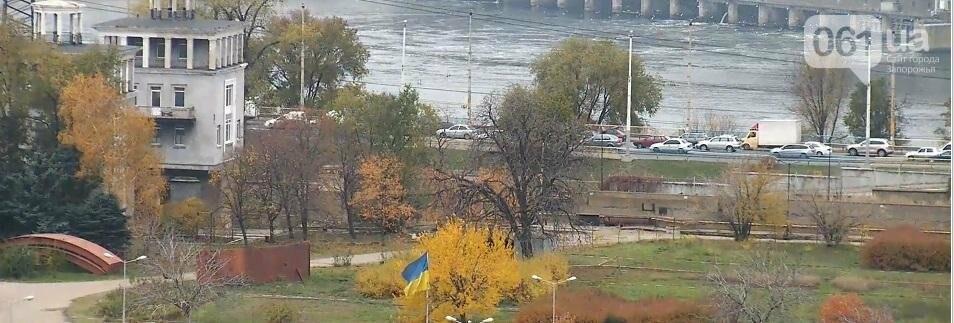 На плотине большая пробка из-за запорожсталевского марафона, - ФОТО, ВИДЕО, фото-3