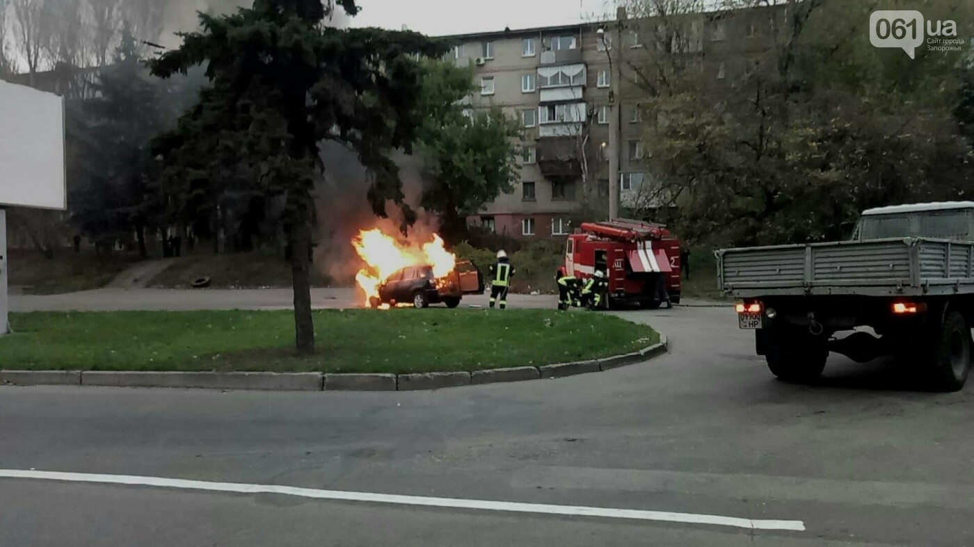 В Запорожье посреди дороги загорелся автомобиль, - ФОТО , фото-5