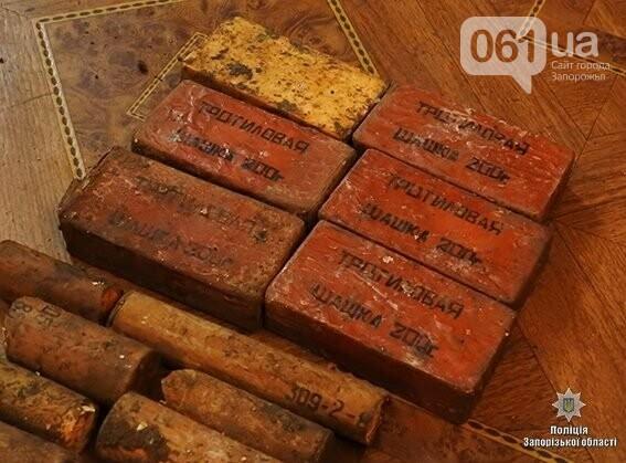 40 гранат и 2 кг тротила: в Запорожской области нашли склад боеприпасов, - ФОТО , фото-4