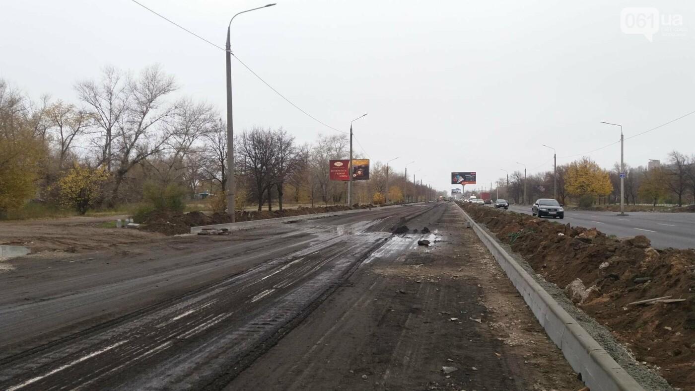 В Запорожье на Набережной открыли движение по отремонтированной дороге: строительные работы продолжаются, — ФОТОРЕПОРТАЖ, фото-5