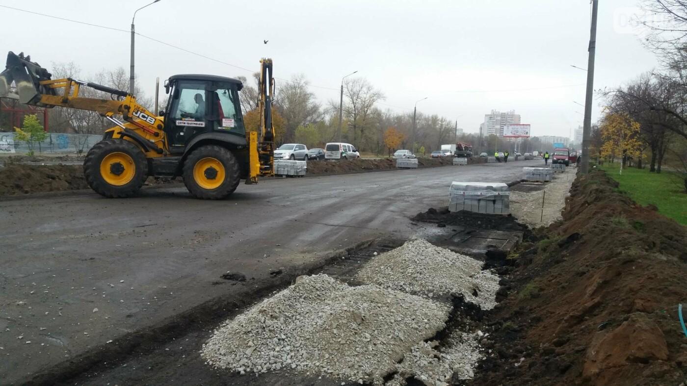 В Запорожье на Набережной открыли движение по отремонтированной дороге: строительные работы продолжаются, — ФОТОРЕПОРТАЖ, фото-10