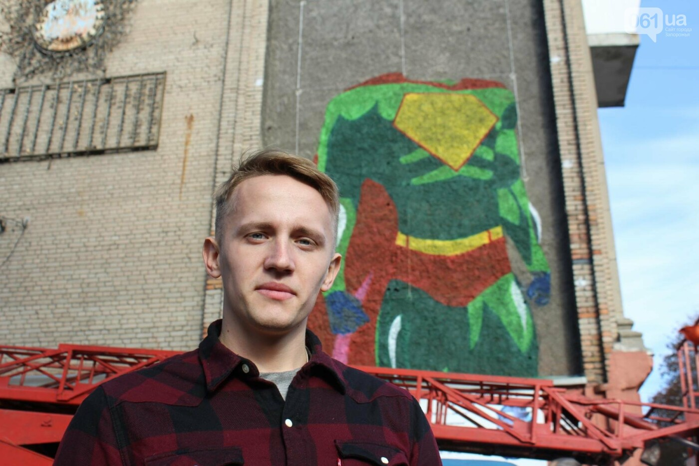 В студгородке создали огромный мурал с запорожским суперменом, — ФОТОРЕПОРТАЖ, фото-9