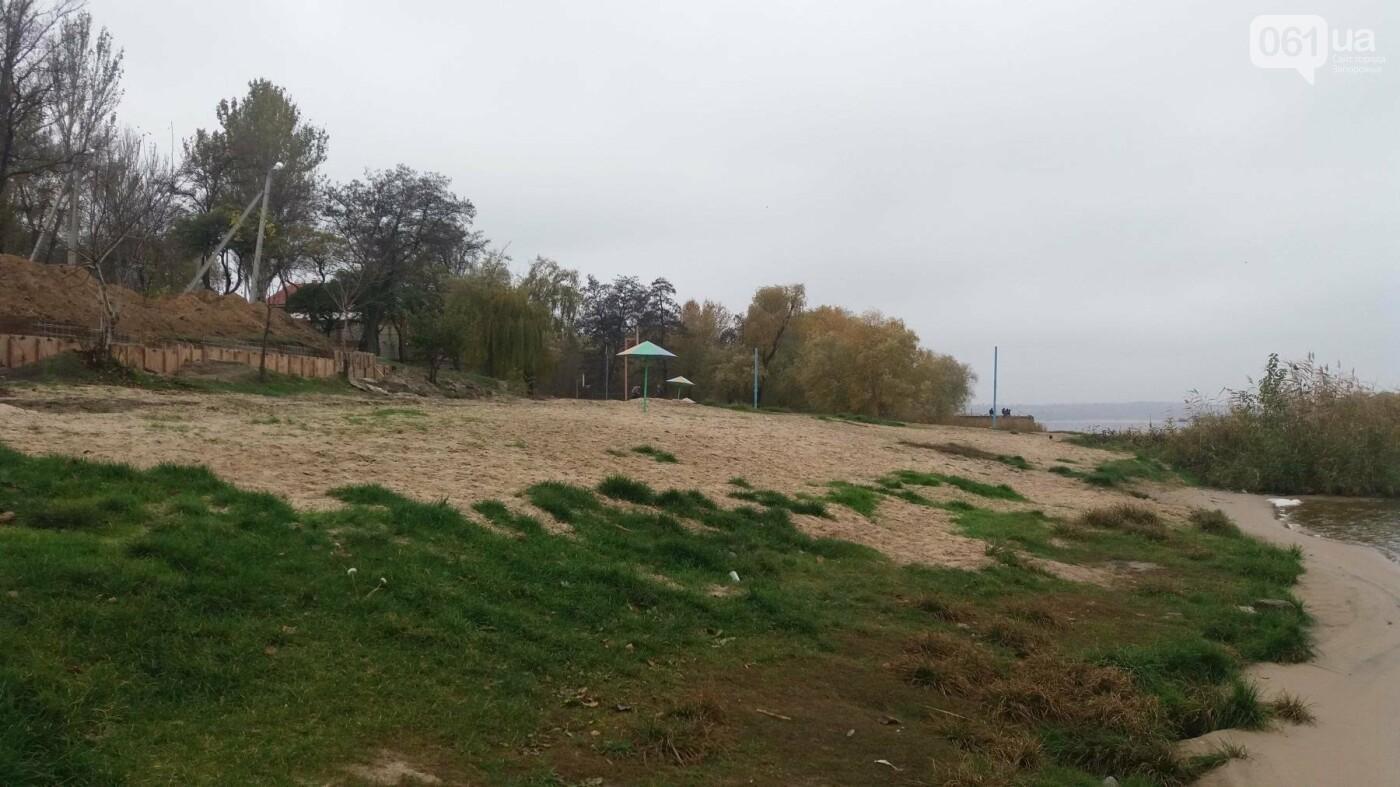 «Работа заглохла ещё в сентябре»: в Запорожье уже два месяца «стоит» реконструкция пляжа в Заводском районе, – ФОТОРЕПОРТАЖ, фото-11