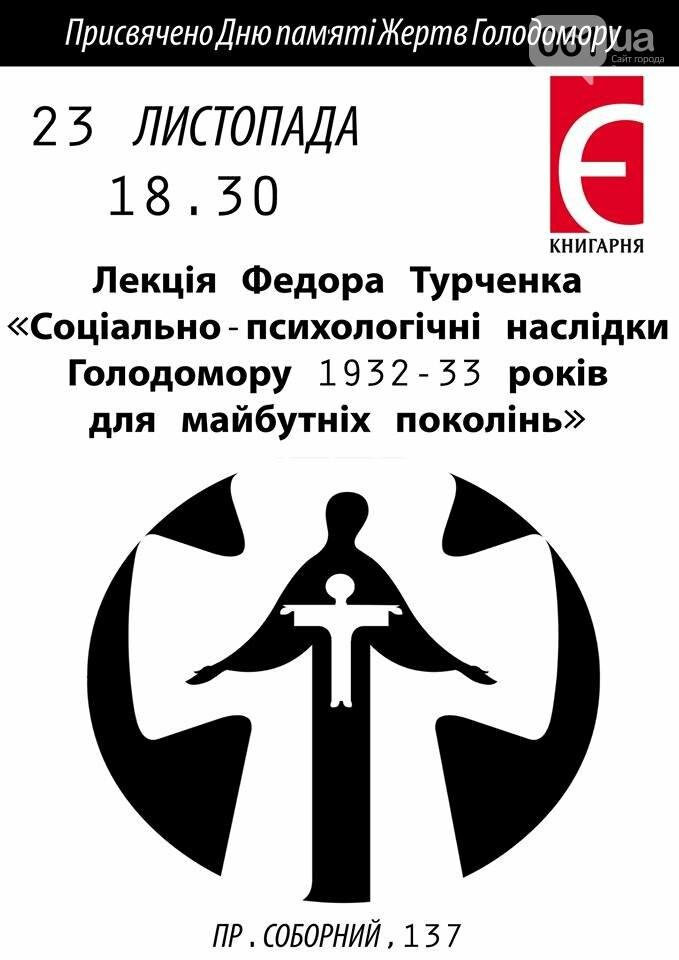 В Запорожье профессор Турченко прочитает лекцию о Голодоморе, - АФИША, фото-1