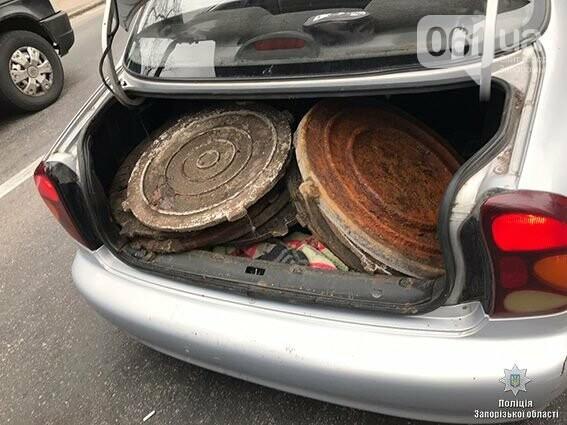 В Запорожье задержали парня, укравшего за утро 10 люков, - ФОТО, фото-1